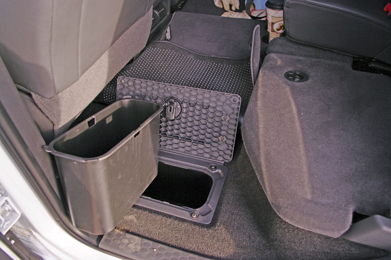 Storage Modifications To The Rear Under Seat Floorboard